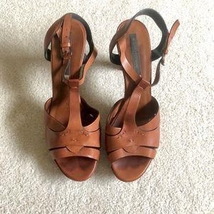 Alberto Fermani T-Strap Platform Sandals